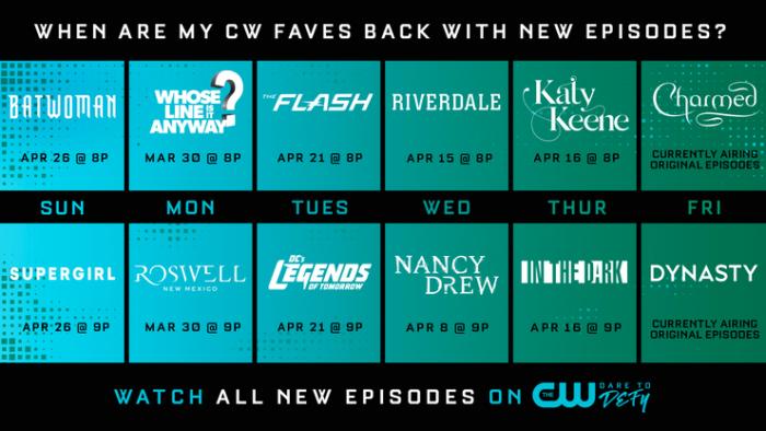 CW опубликовал график выхода новых серий
